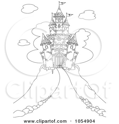 simple castle coloring page collections