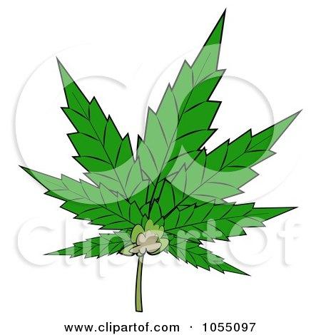 Royalty-Free Clip Art Illustration of a Pot Leaf by djart
