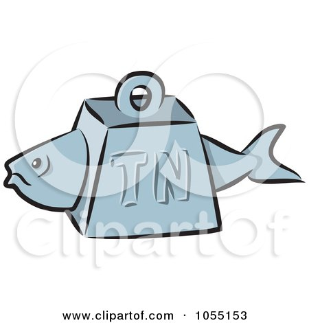 Royalty-Free Vector Clip Art Illustration of a Tuna Fish Weight by Any Vector