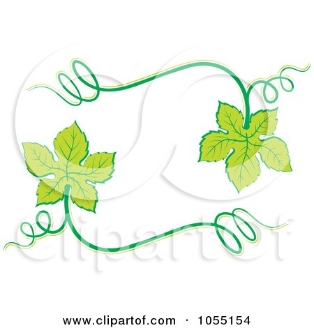 Royalty-Free Vector Clip Art Illustration of a Frame of Grape Leaves by Any Vector