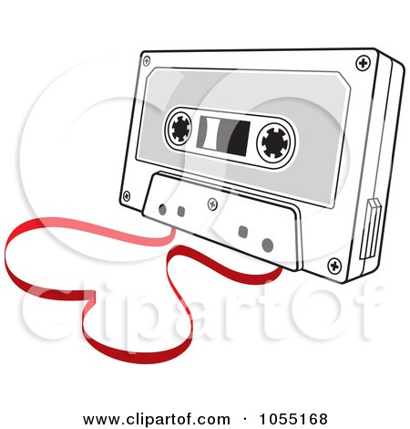 Royalty-Free Vector Clip Art Illustration of a Love Song Cassette Tape With A Heart by Any Vector