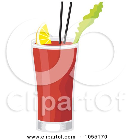 Royalty-Free Vector Clip Art Illustration of a Bloody Mary Cocktail by Any Vector