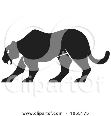 Royalty-Free Vector Clip Art Illustration of a Silhouetted Panther by Any Vector