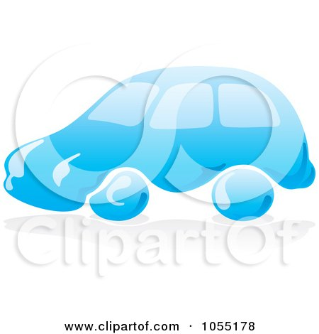 Royalty-Free Vector Clip Art Illustration of a Blue Car Wash Logo - 2 by Any Vector