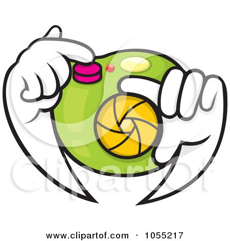 Royalty-Free Vector Clip Art Illustration of a Pair Of Hands Adjusting A Camera Lens by Any Vector
