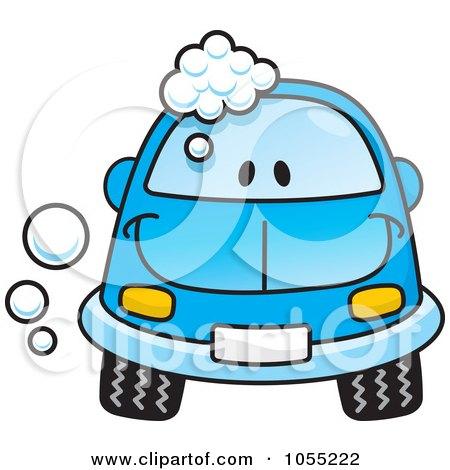 Happy Blue Car With Soap Bubbles Posters, Art Prints