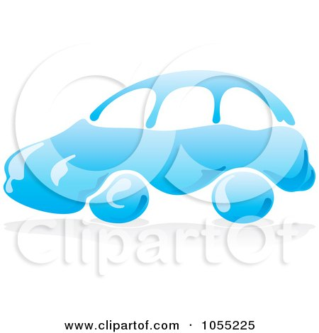Clipart Man Washing A Green Car Under A Sign - Royalty Free Vector ...