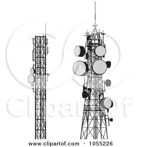 Royalty Free Rf Communication Tower Clipart