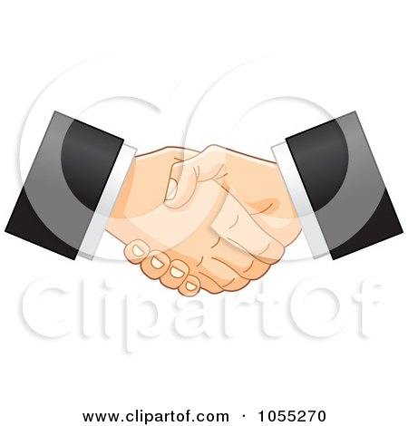Two Business Hands Shaking Posters, Art Prints