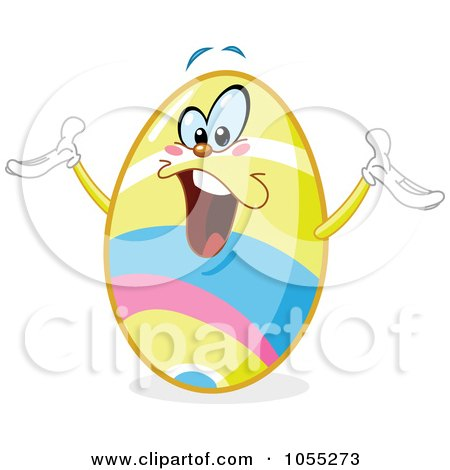 Royalty-Free Vector Clip Art Illustration of a Happy Easter Egg by yayayoyo
