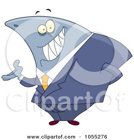 Royalty-Free Vector Clip Art Illustration of a Shark Businessman by yayayoyo
