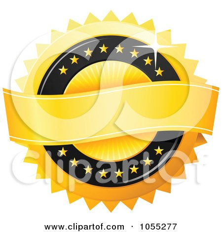 Royalty-Free Vector Clip Art Illustration of a Shiny Golden Guarantee Seal by TA Images