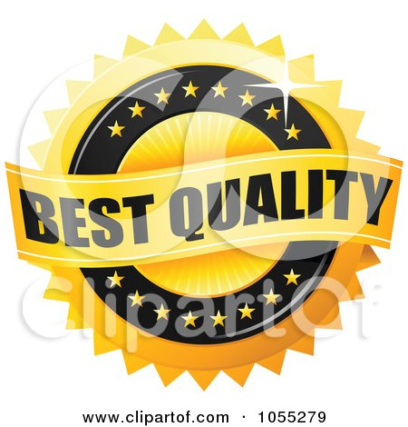 Royalty-Free Vector Clip Art Illustration of a Shiny Golden Best Quality Guarantee Seal by TA Images