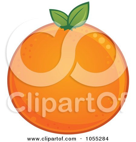 Royalty-Free Vector Clip Art Illustration of a Round Orange by John Schwegel