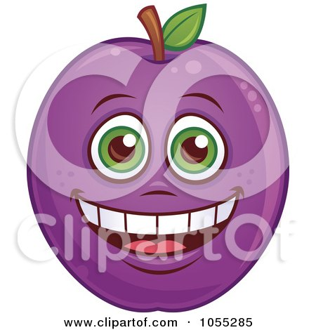Royalty-Free Vector Clip Art Illustration of a Happy Pear Characters by John Schwegel