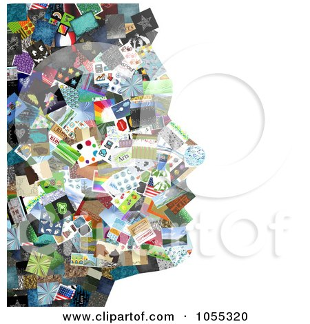 Royalty-Free Clip Art Illustration of a Woman's Facial Profile Composed Of Pictures - 2 by NL shop