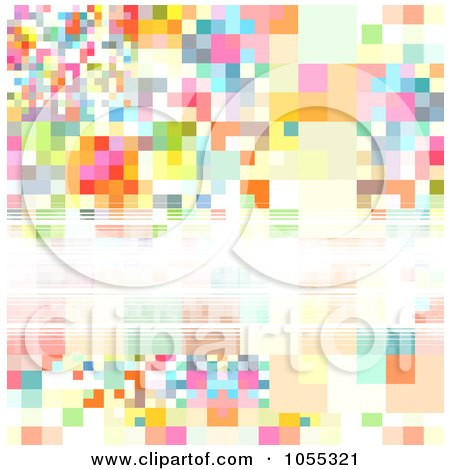 Royalty-Free Clip Art Illustration of an Abstract Background Of Colorful Pixels And Copyspace by NL shop
