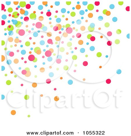 Royalty-Free Clip Art Illustration of a Background Of Colorful Dots On White - 1 by NL shop