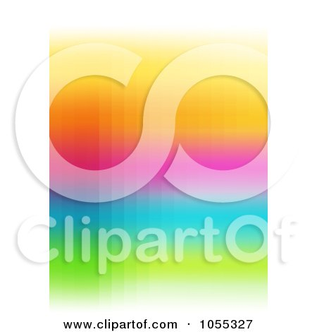 Royalty-Free Clip Art Illustration of an Abstract Rainbow Background - 2 by NL shop