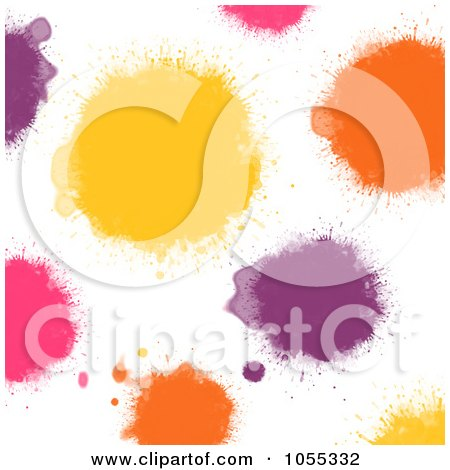 Royalty-Free Clip Art Illustration of a Background Of Colorful Painted Spots On White - 2 by NL shop