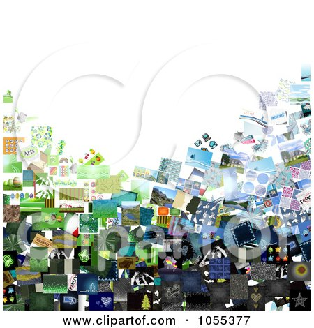 Royalty-Free Clip Art Illustration of a Background Of A Collage Of Pictures On White - 2 by NL shop