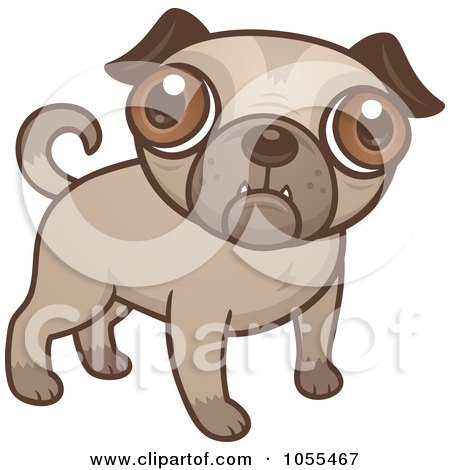 Royalty-Free Vector Clip Art Illustration of a Cute Pug Puppy by John Schwegel