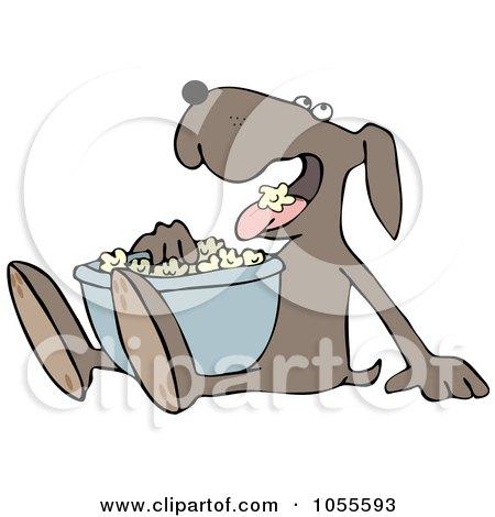 Dog Eating Popcorn Posters, Art Prints