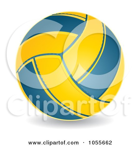 ... Free Vector Clip Art Illustration of a 3d Water Polo Ball by MilsiArt