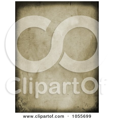 Royalty-Free Clip Art Illustration of a Grungy Wrinkled Canvas Background With Dark Borders by KJ Pargeter