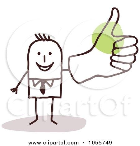 Stick figure thumbs up