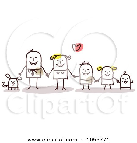 Royalty-Free Vector Clip Art Illustration of a Stick Man Family ...