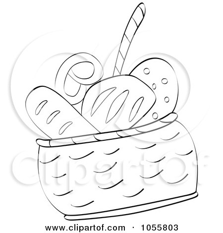 Coloring Page Outline Of A Bread Basket