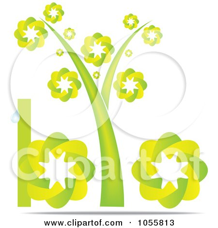 Royalty-Free Vector Clip Art Illustration of a Green Bio Icon With A Tree As The I by Andrei Marincas