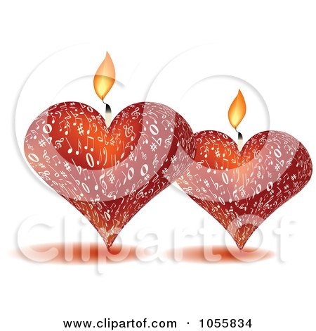 Royalty-Free Vector Clip Art Illustration of Two 3d Music Candles by Andrei Marincas