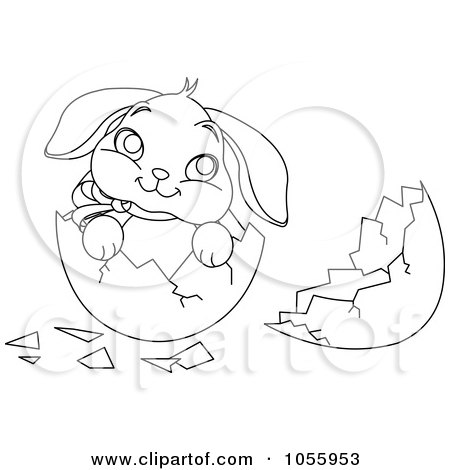 cute easter bunny coloring pictures. Of A Cute Easter Bunny In