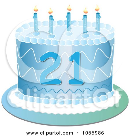 Royalty Free Vector Clip Art Illustration Of A Blue Twenty