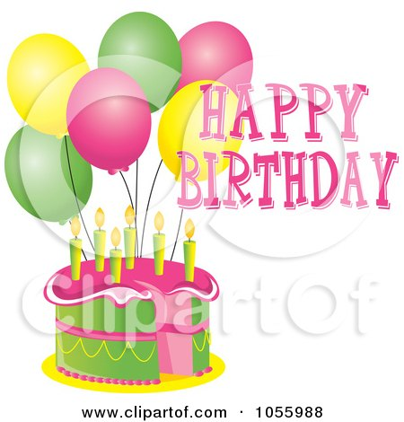 Happy Birthday Cake Clip Art Free. Royalty-Free Vector Clip Art