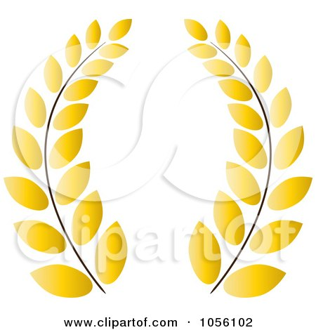 Yellow Greek Wreath Of Olive Branches Posters, Art Prints by Pams ...