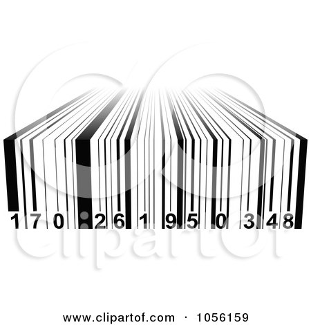 Royalty-Free Vector Clip Art Illustration of a Black And White 3d Bar Code by Andrei Marincas