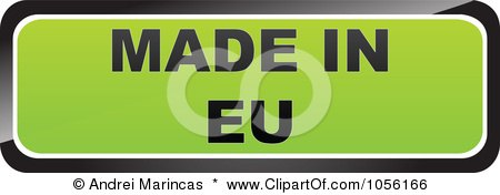 Royalty-Free Vector Clip Art Illustration of a Green MADE IN EU Sticker by Andrei Marincas