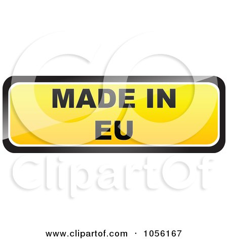 Royalty-Free Vector Clip Art Illustration of a Yellow MADE IN EU Sticker by Andrei Marincas