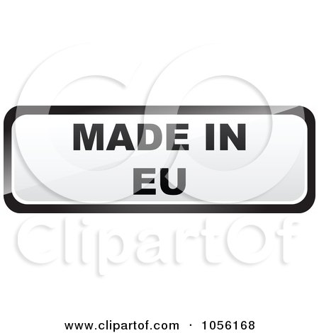 Royalty-Free Vector Clip Art Illustration of a Black And White MADE IN EU Sticker by Andrei Marincas