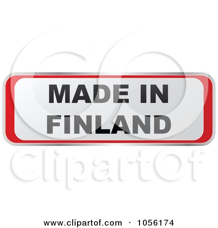 Royalty-Free Vector Clip Art Illustration of a Red And White MADE IN FINLAND Sticker by Andrei Marincas