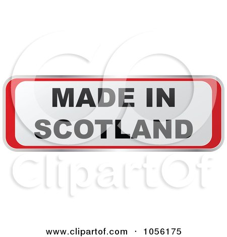 Royalty-Free Vector Clip Art Illustration of a Red And White MADE IN SCOTLAND Sticker by Andrei Marincas