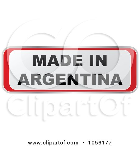 Royalty-Free Vector Clip Art Illustration of a Red And White MADE IN ARGENTINA Sticker by Andrei Marincas
