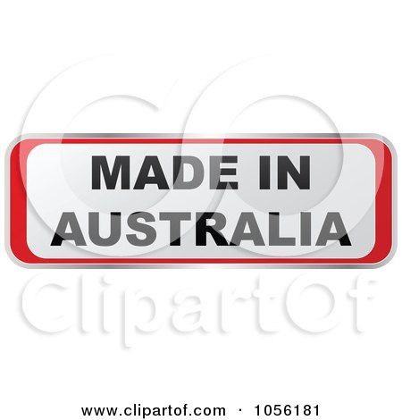 Royalty-Free Vector Clip Art Illustration of a Red And White MADE IN AUSTRALIA Sticker by Andrei Marincas