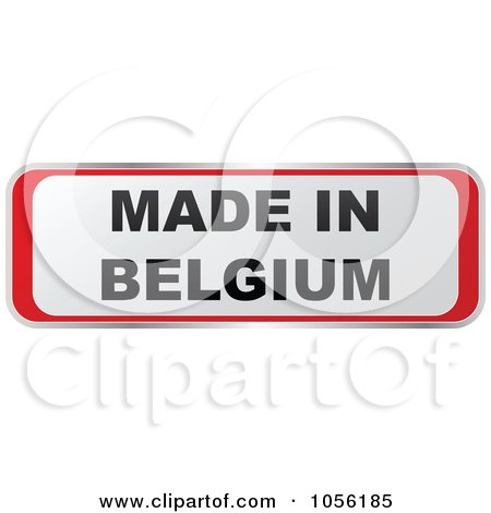 Royalty-Free Vector Clip Art Illustration of a Red And White MADE IN BELGIUM Sticker by Andrei Marincas