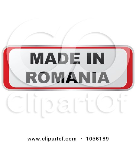 Royalty-Free Vector Clip Art Illustration of a Red And White MADE IN ROMANIA Sticker by Andrei Marincas