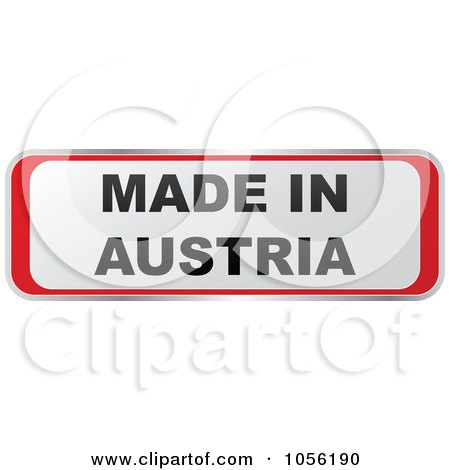 Royalty-Free Vector Clip Art Illustration of a Red And White MADE IN AUSTRIA Sticker by Andrei Marincas