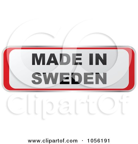 Royalty-Free Vector Clip Art Illustration of a Red And White MADE IN SWEDEN Sticker by Andrei Marincas